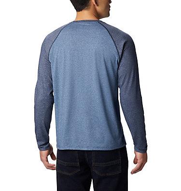 Men's Thistletown Park™ Raglan Shirt Thistletown Park™ Raglan Tee | 024 | L, DK Mtn Hthr, Coll Navy Hthr, back