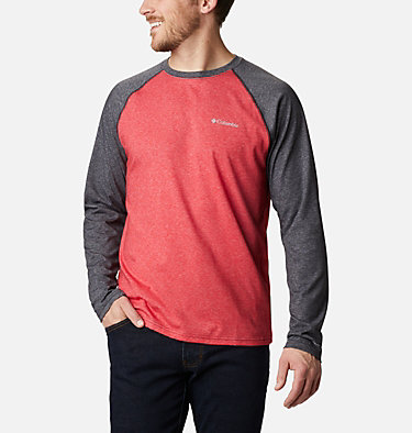 Men's Thistletown Park™ Raglan Shirt Thistletown Park™ Raglan Tee | 024 | L, Mountain Red Heather, Black Heather, front