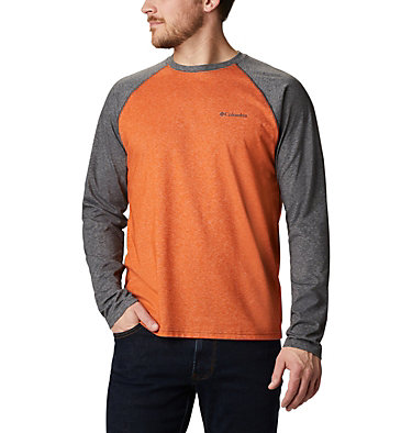 Men's Thistletown Park™ Raglan Shirt Thistletown Park™ Raglan Tee | 024 | L, Harvester Heather, Shark Heather, front