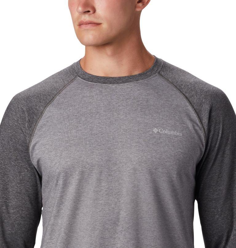Thistletown Park™ Raglan Tee | 024 | 3X Men's Thistletown Park™ Raglan Shirt - Big, City Grey Heather, Shark Heather, a1