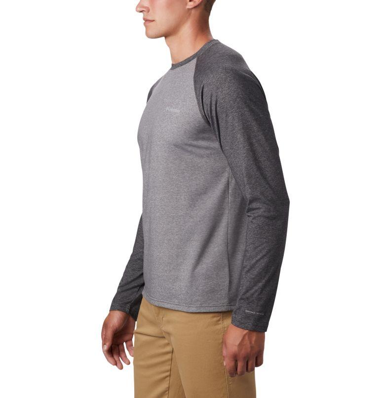 Thistletown Park™ Raglan Tee | 024 | 3X Men's Thistletown Park™ Raglan Shirt - Big, City Grey Heather, Shark Heather, a2