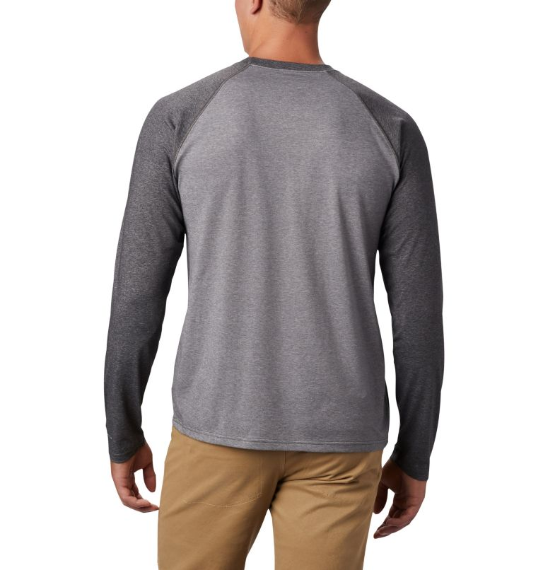 Thistletown Park™ Raglan Tee | 024 | 5X Men's Thistletown Park™ Raglan Shirt - Big, City Grey Heather, Shark Heather, back