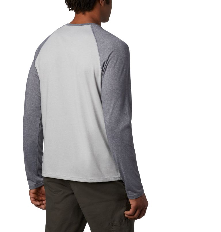 Thistletown Park™ Raglan Tee | 039 | 2X Men's Thistletown Park™ Raglan Shirt - Big, Columbia Grey Heather, City Grey Heather, back