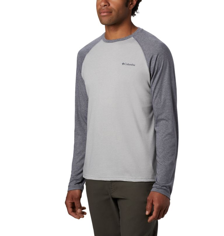 Thistletown Park™ Raglan Tee | 039 | 2X Men's Thistletown Park™ Raglan Shirt - Big, Columbia Grey Heather, City Grey Heather, front