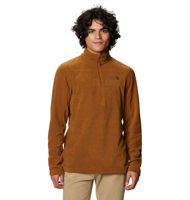 Microchill™ 2.0 Zip T | 233 | XL Men's Microchill™ 2.0 Zip T-Shirt, Golden Brown, front