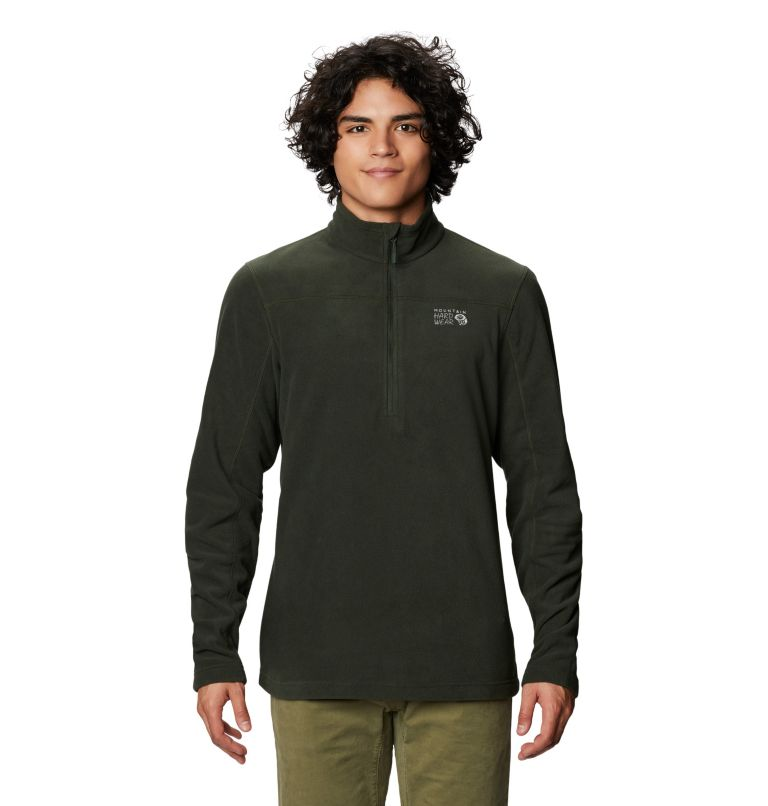 Microchill™ 2.0 Zip T | 306 | M Men's Microchill™ 2.0 Zip T, Black Sage, front