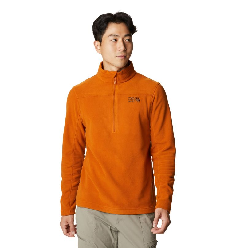 Microchill™ 2.0 Zip T | 841 | L Men's Microchill™ Pullover, Bright Copper, front