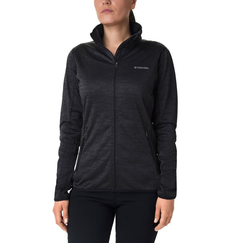 Sapphire Trail™ Fleece Jacket | 010 | M Giacca in pile full zip Sapphire Trail™ da donna, Black, front