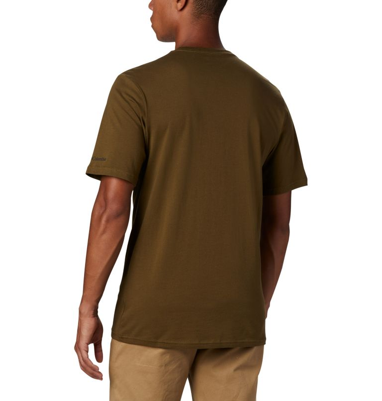 CSC Basic Logo™ Short Sleeve | 327 | S Men's CSC Basic Logo™ Short Sleeve, New Olive, back