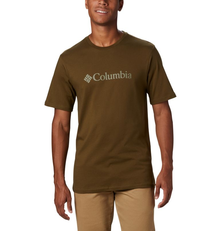 CSC Basic Logo™ Short Sleeve | 327 | S Men's CSC Basic Logo™ Short Sleeve, New Olive, front