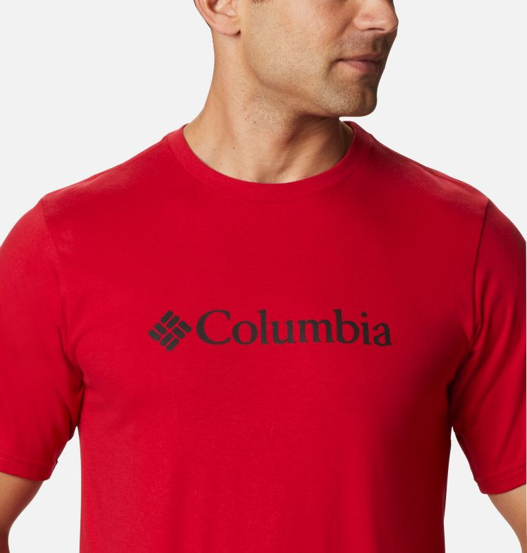 CSC Basic Logo™ Short Sleeve | 615 | XL Men's CSC Basic Logo™ Short Sleeve, Mountain Red, a2