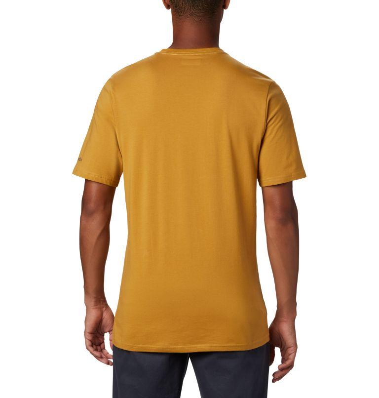 CSC Basic Logo™ Short Sleeve | 734 | M Men's CSC Basic Logo™ Short Sleeve, Dark Banana, back