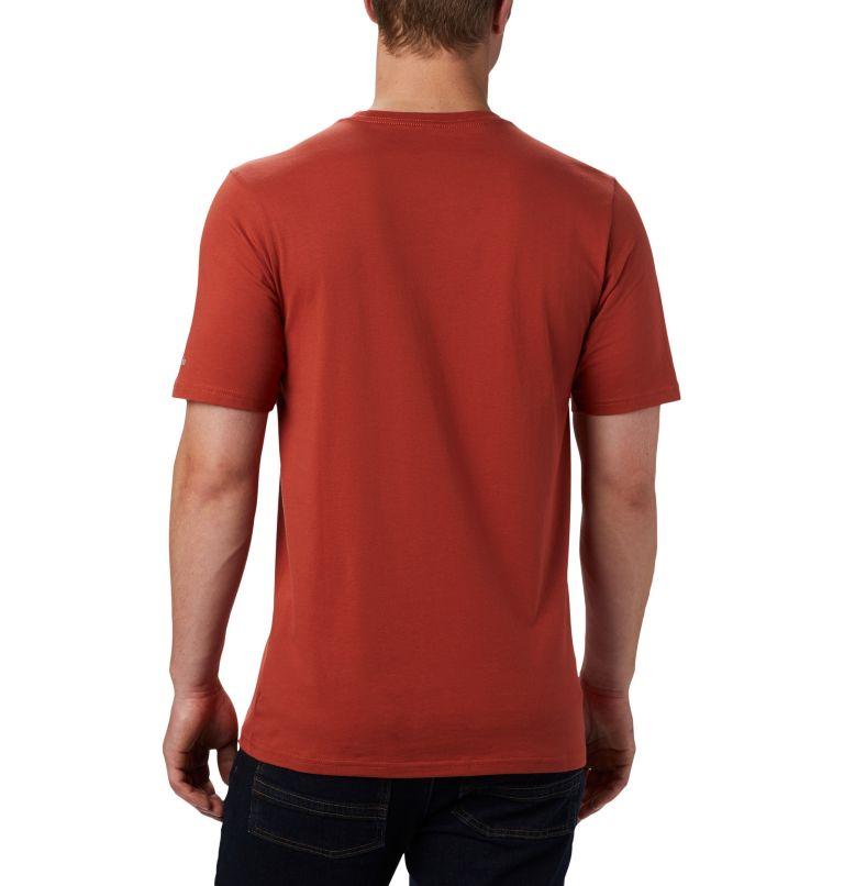 CSC Basic Logo™ Short Sleeve | 835 | S Men's CSC Basic Logo™ Short Sleeve, Carnelian Red, back