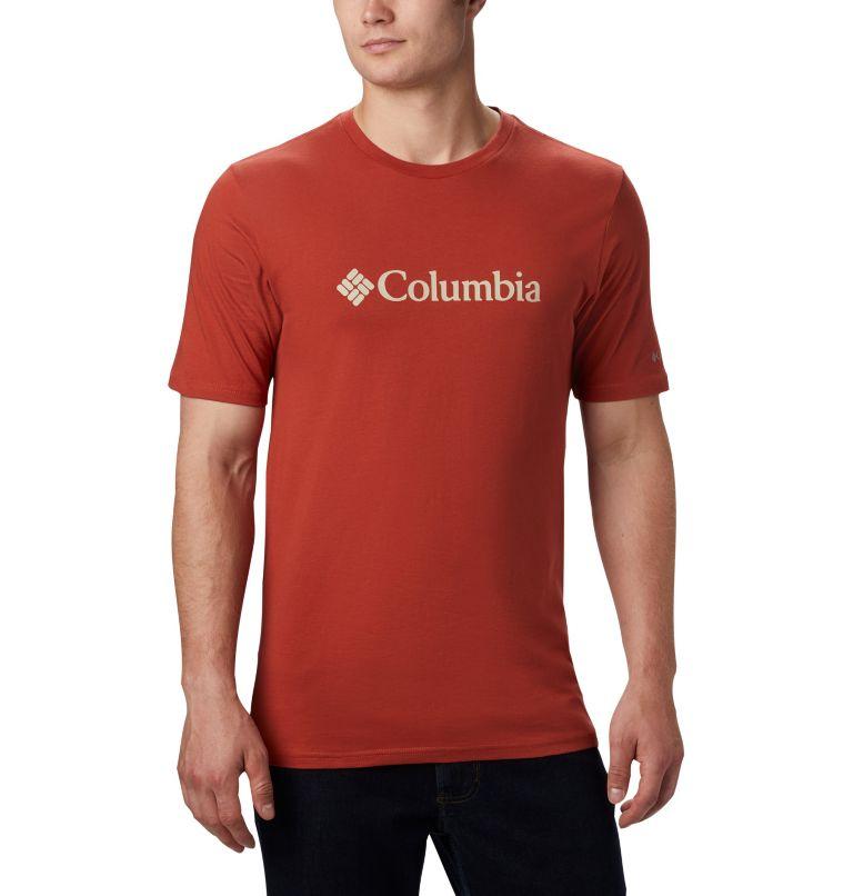 CSC Basic Logo™ Short Sleeve | 835 | S Men's CSC Basic Logo™ Short Sleeve, Carnelian Red, front