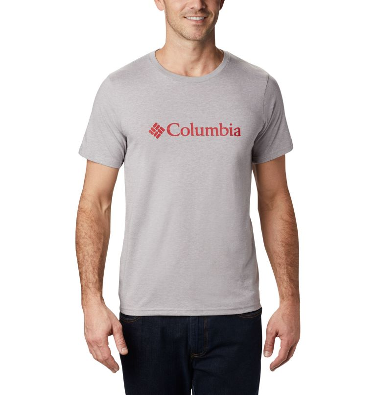 CSC Basic Logo™ Short Sleeve | 039 | XS Men's CSC Basic Logo™ Tee, Columbia Grey Heather, front