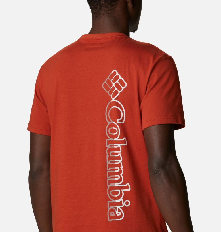CSC Basic Logo™ Short Sleeve | 248 | L Men's CSC Basic Logo™ Tee, Dark Sienna Vertical, a3