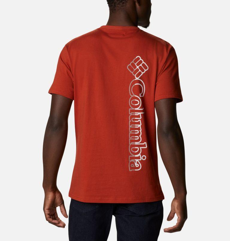 CSC Basic Logo™ Short Sleeve | 248 | L Men's CSC Basic Logo™ Tee, Dark Sienna Vertical, back