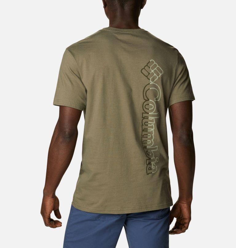 CSC Basic Logo™ Short Sleeve | 398 | S Men's CSC Basic Logo™ Tee, Stone Green Vertical, back