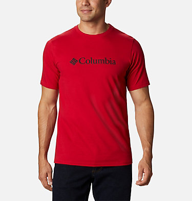 Maglia CSC Basic Logo™ da uomo CSC Basic Logo™ Short Sleeve | 015 | S, Mountain Red, front