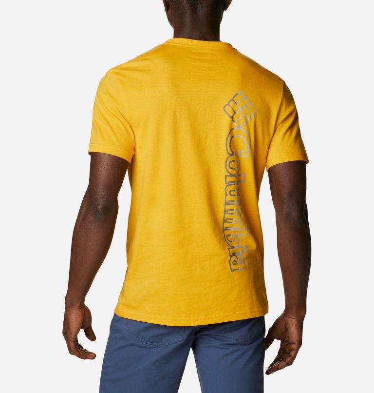 CSC Basic Logo™ Short Sleeve | 790 | XL Men's CSC Basic Logo™ Tee, Bright Gold Vertical, back