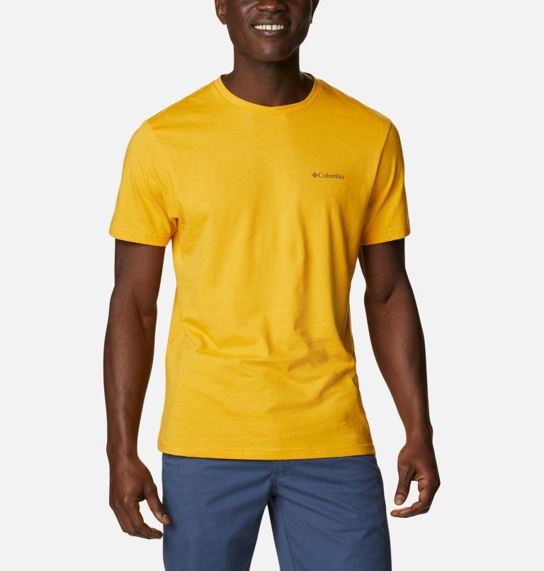 CSC Basic Logo™ Short Sleeve | 790 | XL Men's CSC Basic Logo™ Tee, Bright Gold Vertical, front