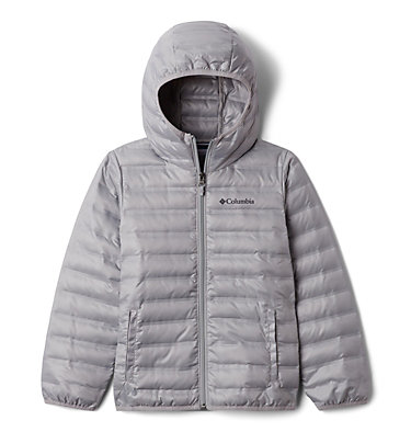 Kids' Flash Forward Hooded Down Jacket Flash Forward™ Hooded Down Jacket | 554 | L, Columbia Grey, front