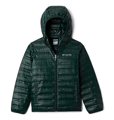 Kids' Flash Forward Hooded Down Jacket Flash Forward™ Hooded Down Jacket | 554 | L, Spruce, front