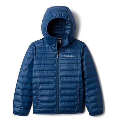 Kids' Flash Forward Hooded Down Jacket Flash Forward™ Hooded Down Jacket | 554 | L, Night Tide, front