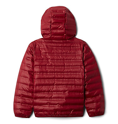 Kids' Flash Forward Hooded Down Jacket Flash Forward™ Hooded Down Jacket | 554 | L, Red Jasper, back