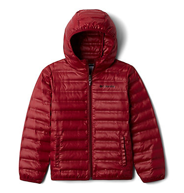 Kids' Flash Forward Hooded Down Jacket Flash Forward™ Hooded Down Jacket | 554 | L, Red Jasper, front