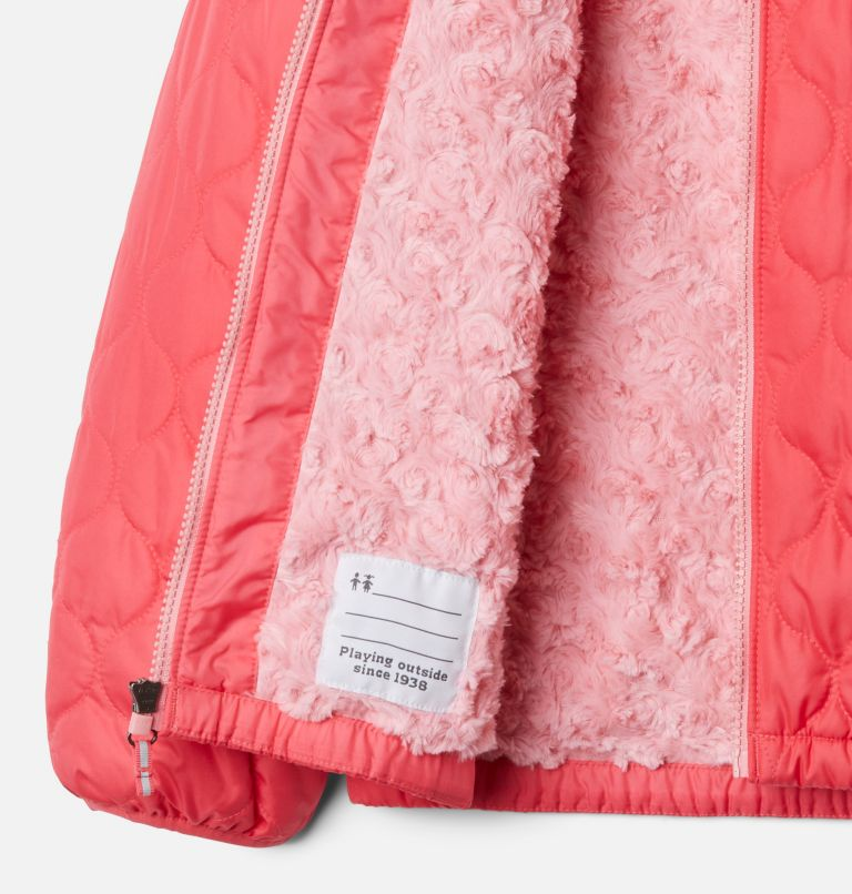 Bella Plush™ Jacket | 673 | M Girls' Bella Plush™ Jacket, Bright Geranium, a1