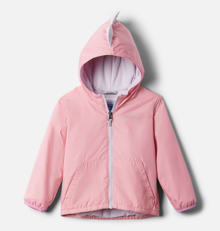 Kitterwibbit™ Jacket | 689 | 4T Toddler Kitterwibbit™ Hooded Fleece Lined Jacket, Pink Orchid, Pale Lilac, back