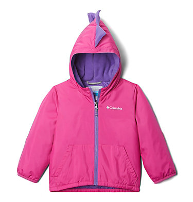 Toddler Kitterwibbit™ Hooded Fleece Lined Jacket Kitterwibbit™ Jacket | 432 | 2T, Pink Ice, Grape Gum, back