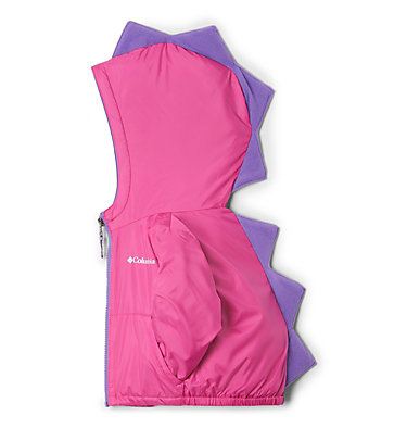 Toddler Kitterwibbit™ Hooded Fleece Lined Jacket Kitterwibbit™ Jacket | 432 | 2T, Pink Ice, Grape Gum, front