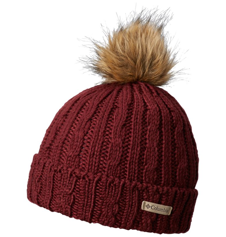 Catacomb Crest™ Beanie | 624 | O/S Catacomb Crest™ Unisex Beanie, Rich Wine, front