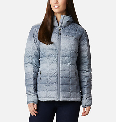 Women's Voodoo Falls™ 590 TurboDown™ Hooded Jacket Voodoo Falls™ 590 TurboDown™ Hdd Jacket | 473 | XS, Grey Ash Spotty Ombre Print, front