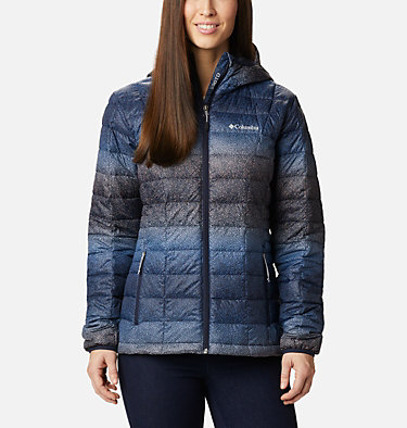 Women's Voodoo Falls™ 590 TurboDown™ Hooded Jacket Voodoo Falls™ 590 TurboDown™ Hdd Jacket | 473 | XS, Dark Nocturnal Spotty Hombre Print, front