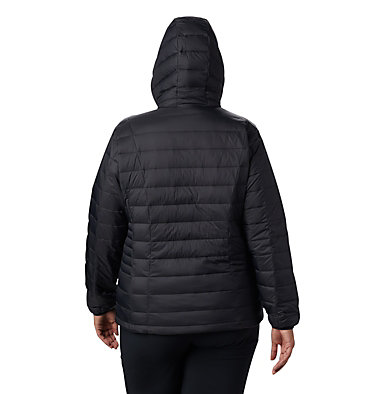Women's Voodoo Falls™ 590 TurboDown™ Hooded Jacket - Plus Size Voodoo Falls™ 590 TurboDown™ H | 032 | 1X, Black, back
