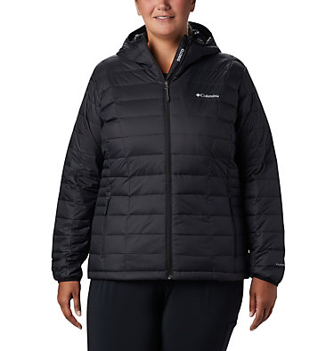 Women's Voodoo Falls™ 590 TurboDown™ Hooded Jacket - Plus Size Voodoo Falls™ 590 TurboDown™ H | 032 | 1X, Black, front