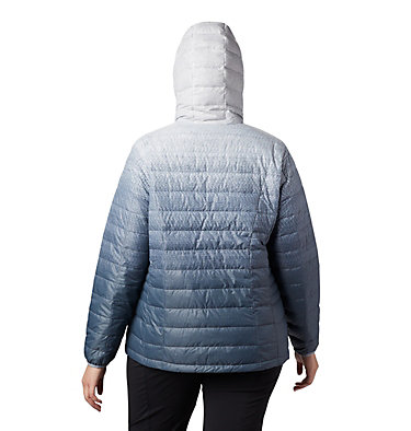 Women's Voodoo Falls™ 590 TurboDown™ Hooded Jacket - Plus Size Voodoo Falls™ 590 TurboDown™ H | 032 | 1X, Tradewinds Grey Gradient Print, back