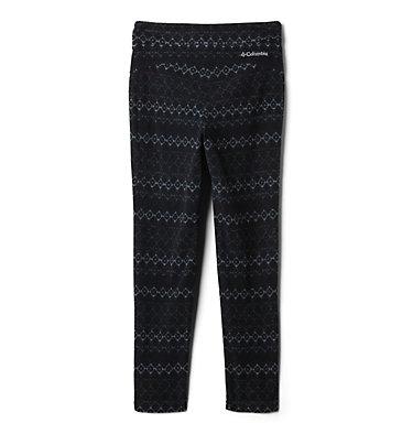 Legging imprimé en laine polaire Glacial™ pour fille Glacial™ Printed Legging | 613 | XXS, Black Diamond Stripe, Black, back