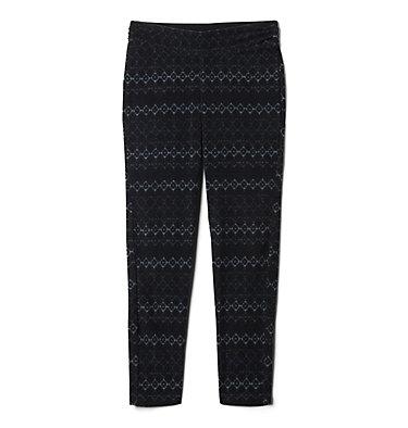 Legging imprimé en laine polaire Glacial™ pour fille Glacial™ Printed Legging | 613 | XXS, Black Diamond Stripe, Black, front