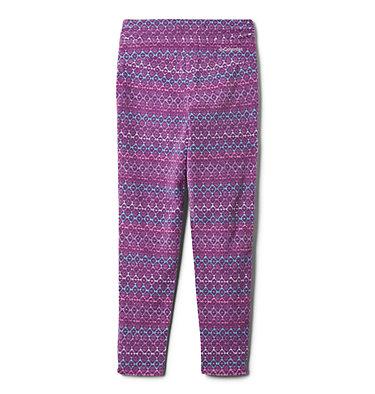 Girls' Glacial™ Printed Leggings Glacial™ Printed Legging | 613 | XXS, Plum Diamond Stripe, Plum, back