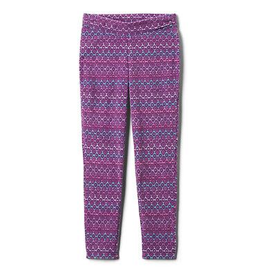 Legging imprimé en laine polaire Glacial™ pour fille Glacial™ Printed Legging | 613 | XXS, Plum Diamond Stripe, Plum, front