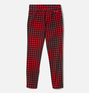 Girls' Glacial™ Printed Leggings Glacial™ Printed Legging | 613 | XXS, Mountain Red Houndstooth (B), Mtn Red, back