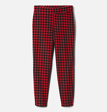 Girls' Glacial™ Printed Leggings Glacial™ Printed Legging | 014 | XXS, Mountain Red Houndstooth (B), Mtn Red, front