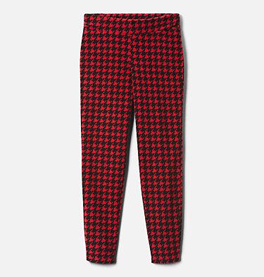 Legging imprimé en laine polaire Glacial™ pour fille Glacial™ Printed Legging | 613 | XXS, Mountain Red Houndstooth (B), Mtn Red, front