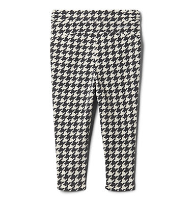 Girls' Toddler Glacial™ Printed Fleece Leggings Glacial™ Printed Legging | 613 | 2T, Chalk Houndstooth (B), Chalk, back