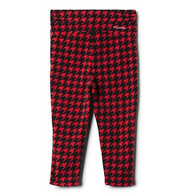 Girls' Toddler Glacial™ Printed Fleece Leggings Glacial™ Printed Legging | 613 | 2T, Mountain Red Houndstooth (B), Mtn Red, back