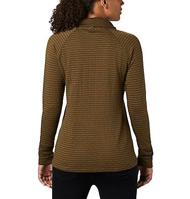 Women's Silver Falls™ Long Sleeve Shirt Silver Falls™ Long Sleeve | 319 | XS, Olive Green Stripe, back